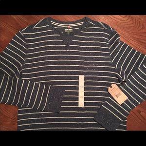 New RUFF HEWN Men's L Henley Pullover Sweat Shirt